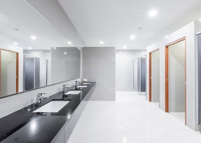 public Interior of bathroom with sink basin faucet lined up Mode